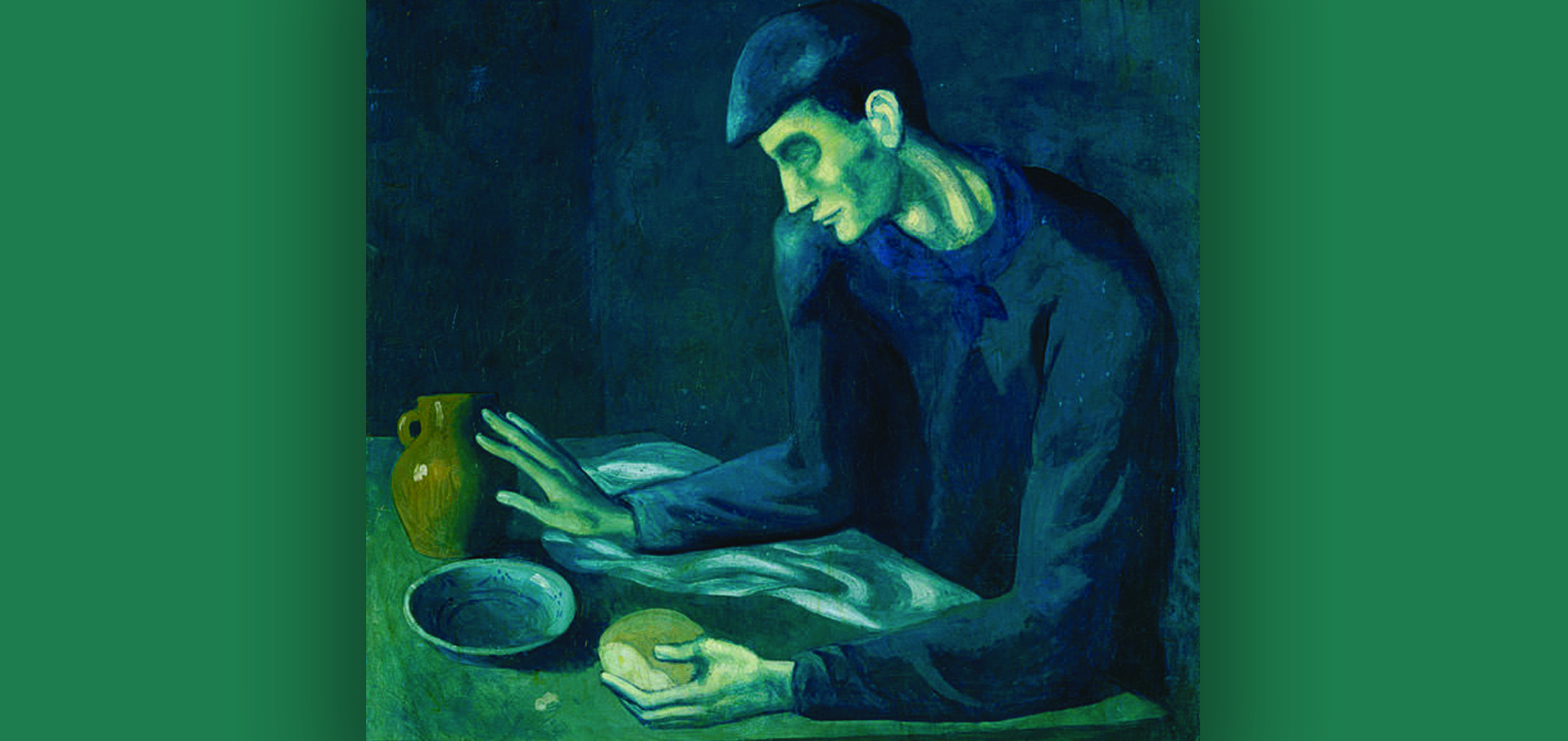 Pablo Picasso, 1903, The Blind Man's Meal, oil on canvas