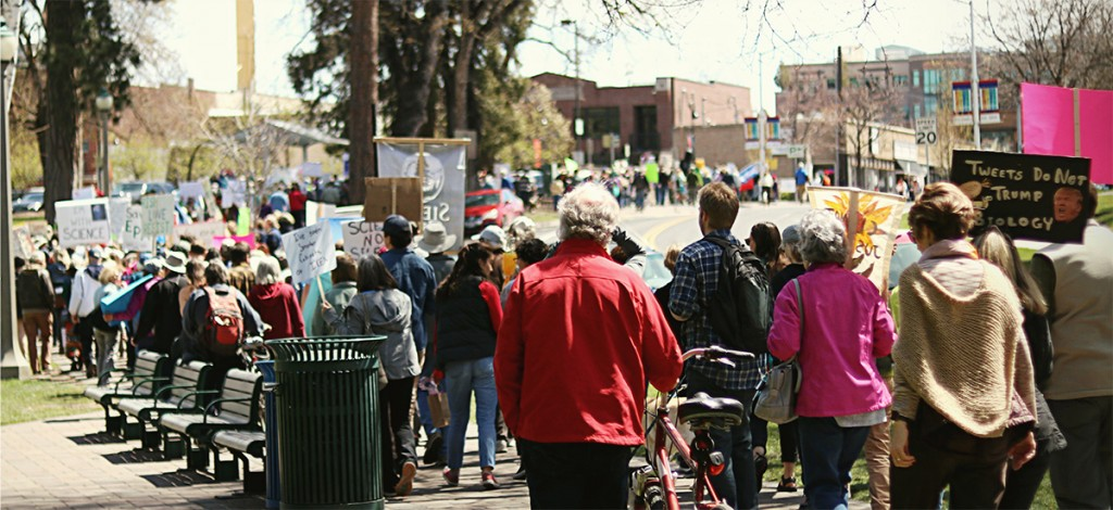 The start of the march through Drake Park and downtown, hundreds of people of all ages and from different environmental groups came together to fight for the climate.