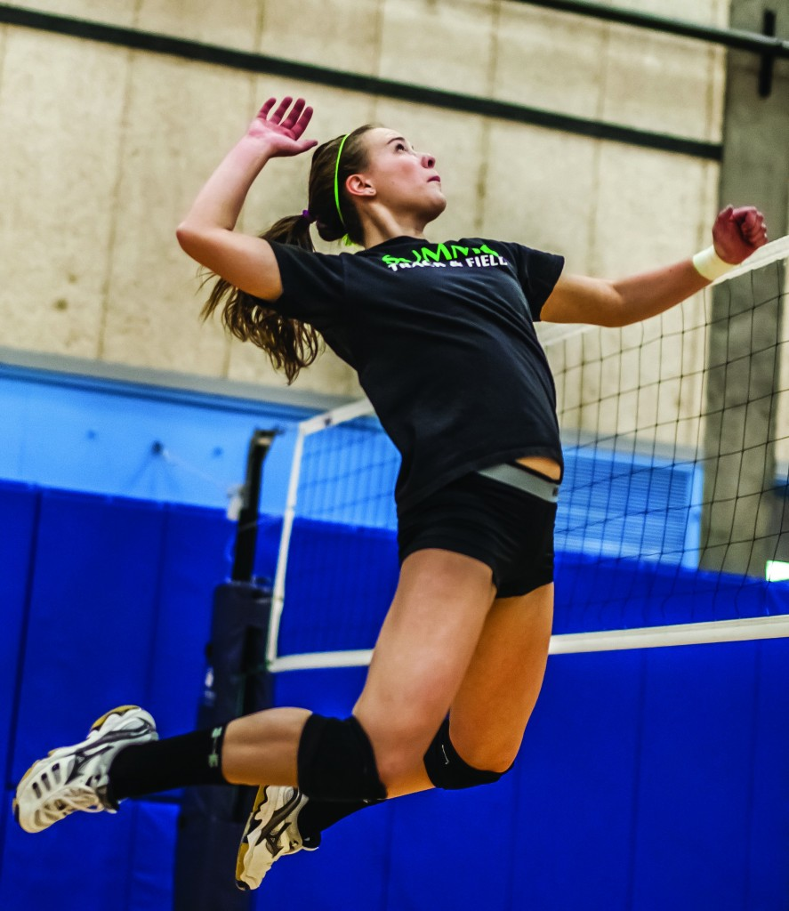 Emily Ritchey displays her athletic prowess.