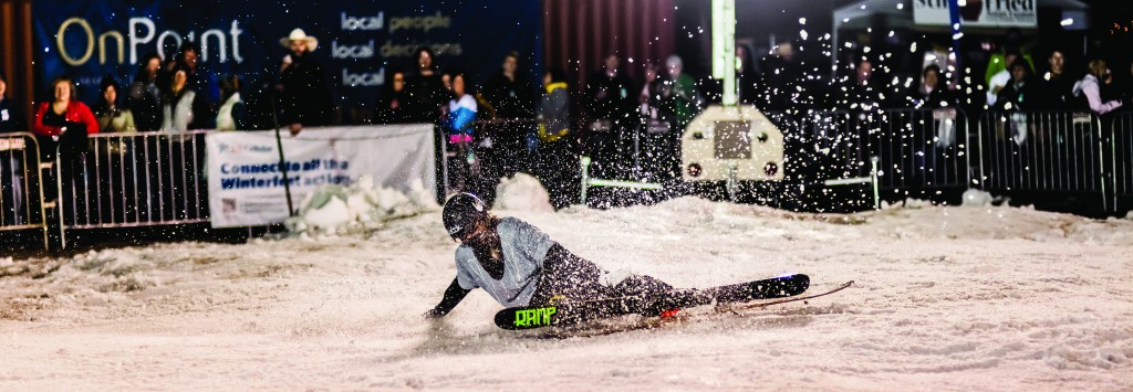 Winterfest skier. Photo by Stephen Badger The Broadside
