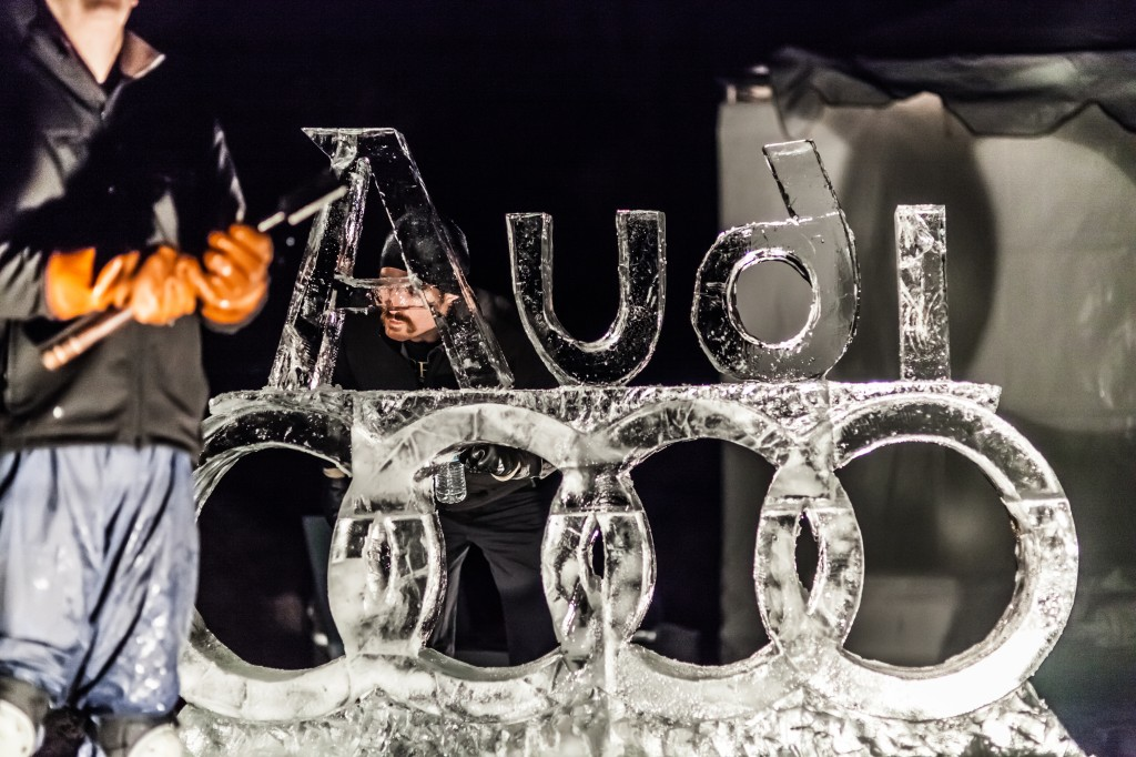 Winterfest Ice sculpture. Photo by Stephen Badger The Broadside