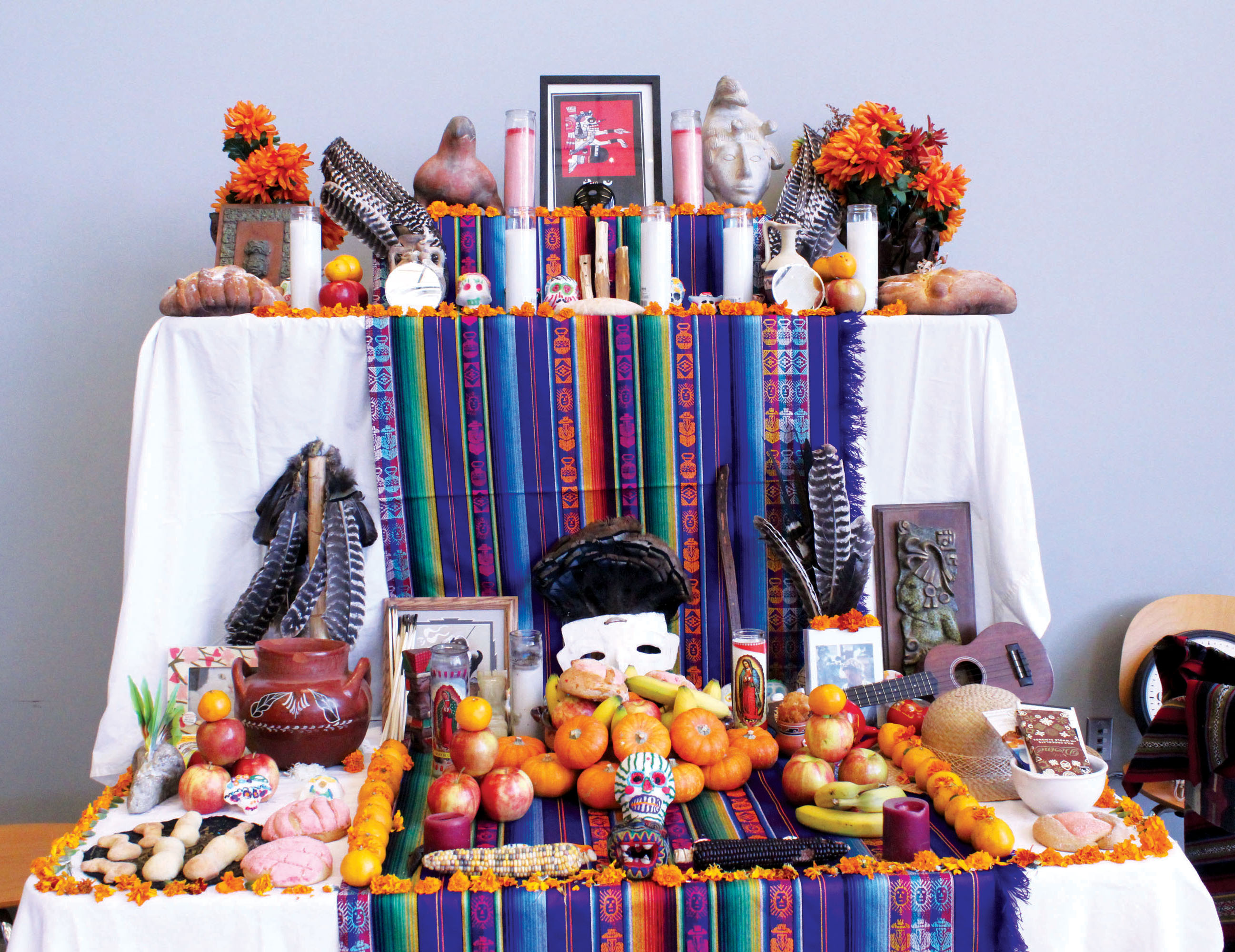This altar celebrates both death and life.